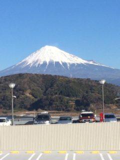 晴れの日の富士山